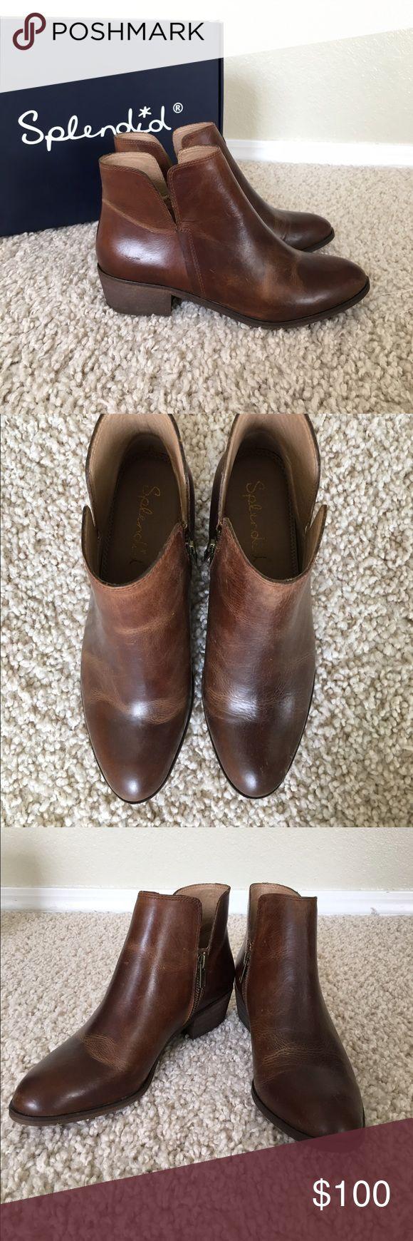 """Hamptyn zipper bootie by Splendid Brand new size 8 """"coffee"""" bootie. Splendid Shoes Ankle Boots & Booties"""