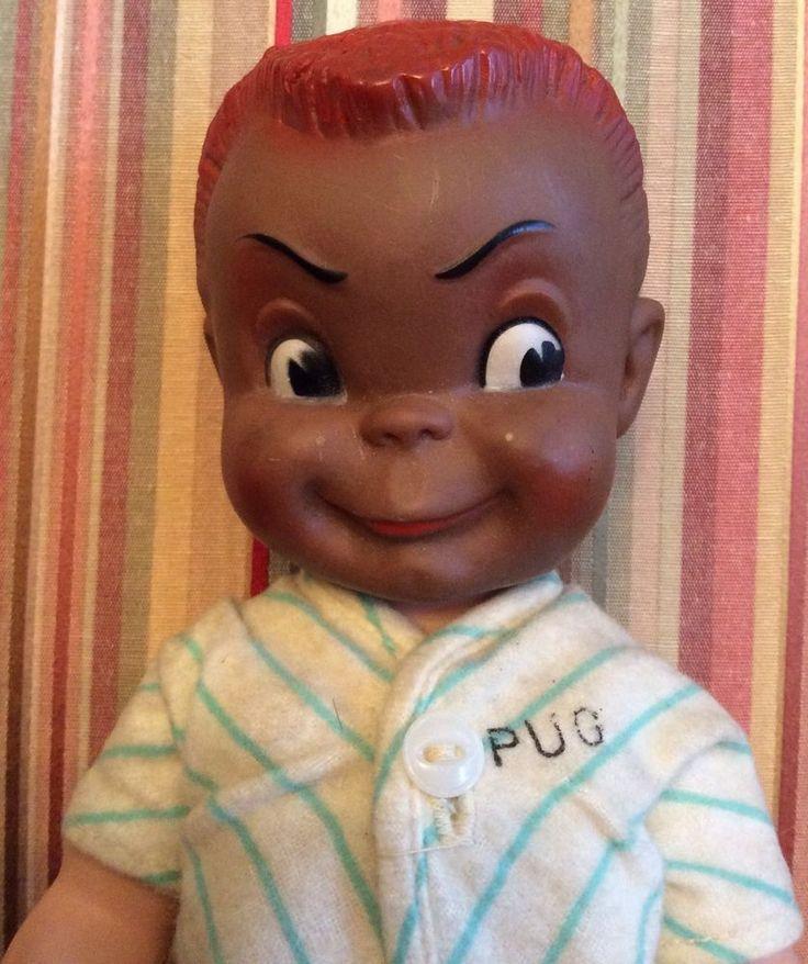 Very Rare Vintage M Amp S Doll Company Black Quot Pug Quot Rubber