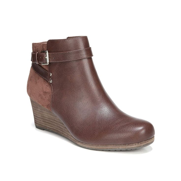 Dr. Scholl's Double Women's Wedge Ankle Boots, Brown, DOUBLE COPPERBROWN M