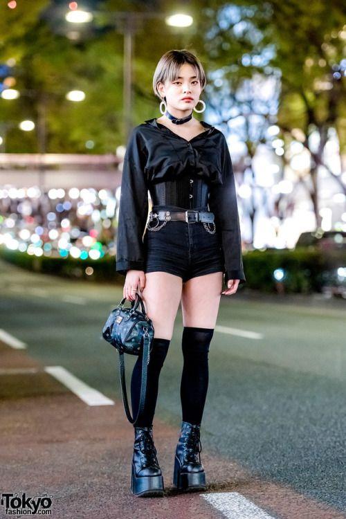 19-year-old Maya on the street in Harajuku wearing an MYOB NYC... by  #TokyoFashion #TokyoStyle