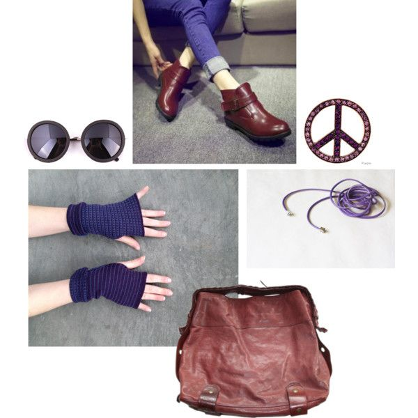 April set 01 by anna-suchodolska on Polyvore featuring HotBoot, Chloé, casual, peace, etsy and hippie