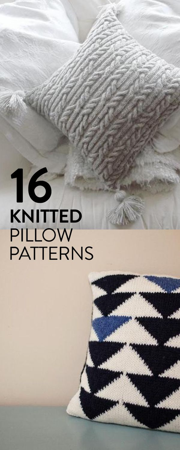 Traditional, eclectic or contemporary knitted pillows look great in every home. Explore our top 16 knit pillow patterns and make your home handmade.