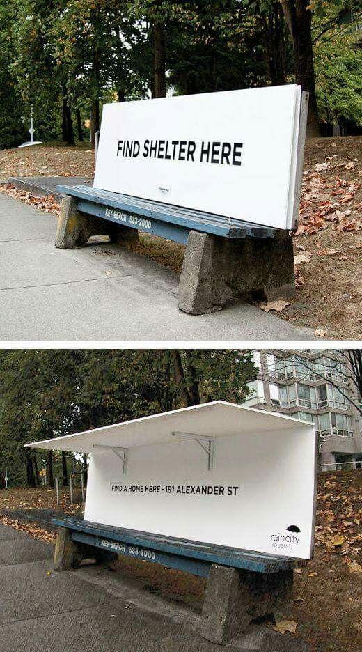 Covered park bench  for homeless