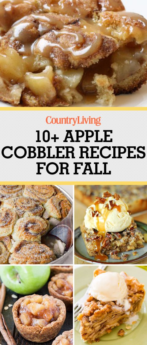 Warm your insides with these mouth-watering apple cobbler desserts.
