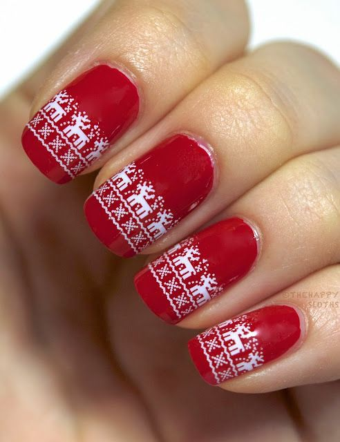 christmas nail art designs cute pointy nails tumblr