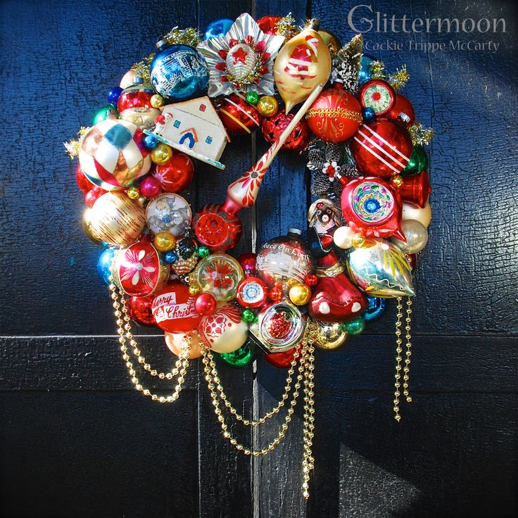 Mrs Goat's Wreath made for the Beekman 1802 Holiday Website ©Glittermoon Vintage Christmas 2017