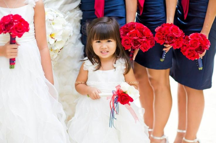 Navy and Claret (deep red) as wedding colors Flowers by Bloom Bridal