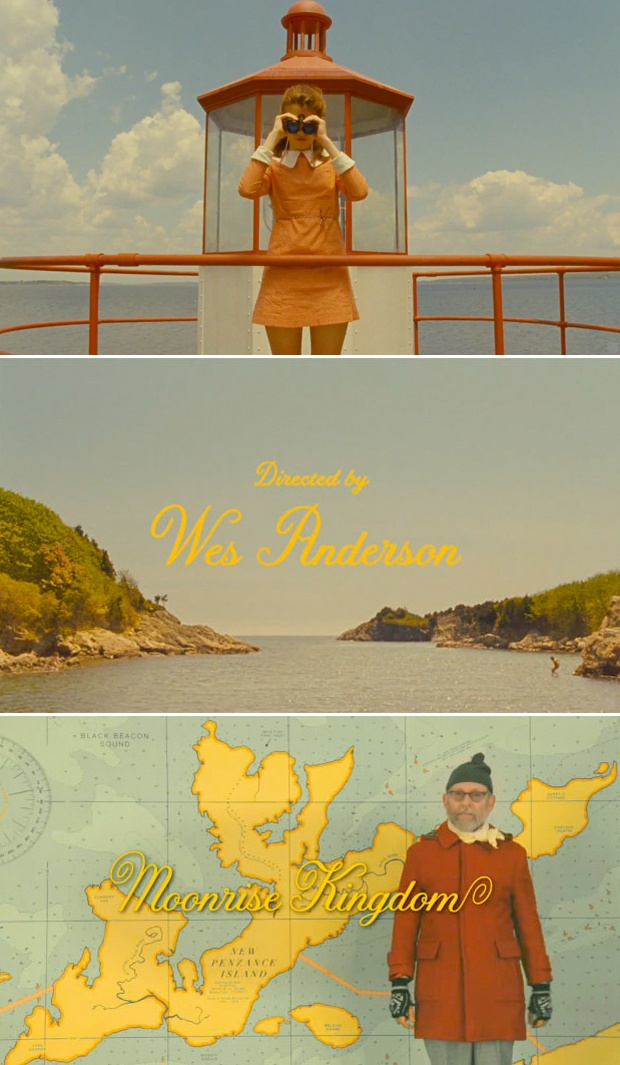 Such gorgeous lettering by Jessica Hische for Moonrise Kingdom
