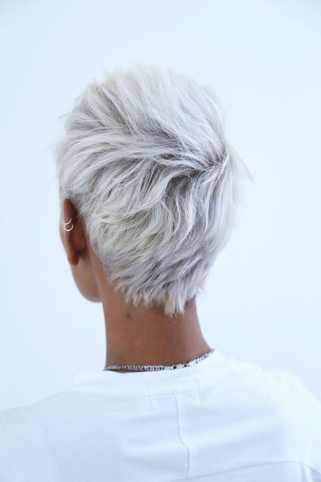 Image Result For Olive Skin And White Hair Short White Hair