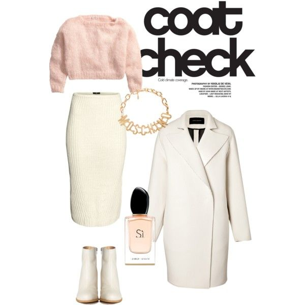 A fashion look from December 2014 featuring H&M sweaters, Cédric Charlier coats and H&M skirts. Browse and shop related looks.