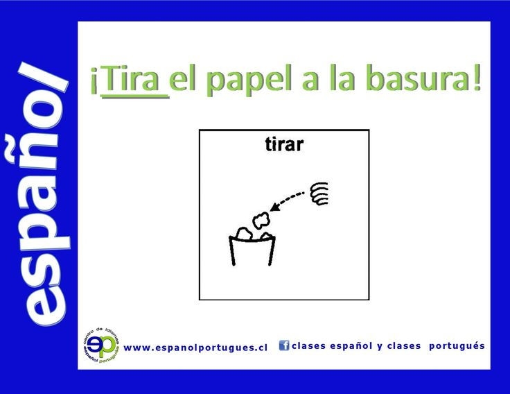 Verbo tirar #Spanish #SpanishClasses #AulasEspanhol #Espanhol  Síguenos Clases Español y Clases Português info@espanolportugues.cl - www.espanolportugues.cl