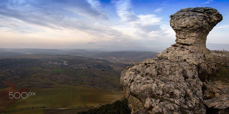 Panorámica de Las Tuerces - Cañón de la Horadada desde Las Tuerces Palencia