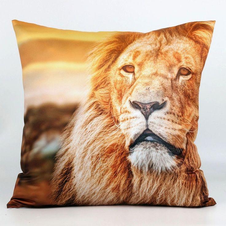 africanartonline.com - Lion Face 3D Cushion Cover, $26.00 FREE Shipping (http://africanartonline.com/lion-face-3d-cushion-cover/)