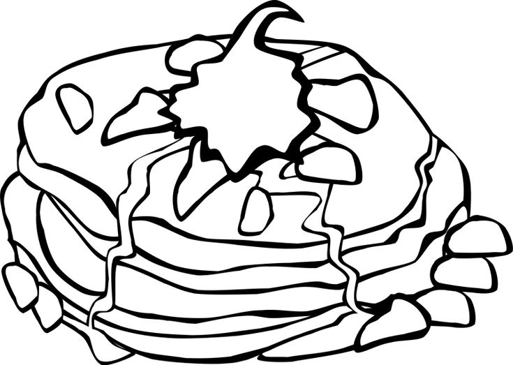 pancakes coloring pages - photo#26