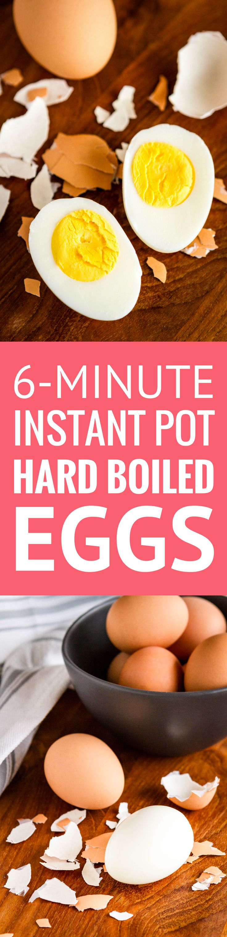 Instant Pot Hard Boiled Eggs -- these Instant Pot eggs turn out *amazing* every time! They're easy to peel, perfectly cooked and never have those icky green yolks... This is the perfect recipe for learning how to use your new electric pressure cooker! | instant pot recipes | meal prep ideas | whole 30 recipes easy | whole 30 eggs | 21 day fix recipes | find the recipe on unsophisticook.com