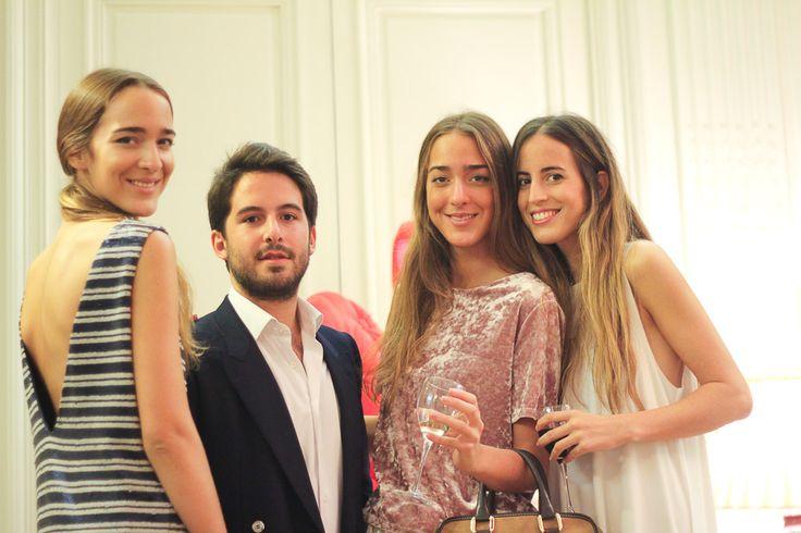 Diego Estrada, Sisters Carranza and Berta Bernard at the Spanish Embassy, London.