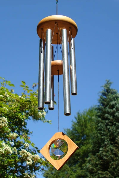Use wind chime to dispel bad energy from surrounding harmful structures.