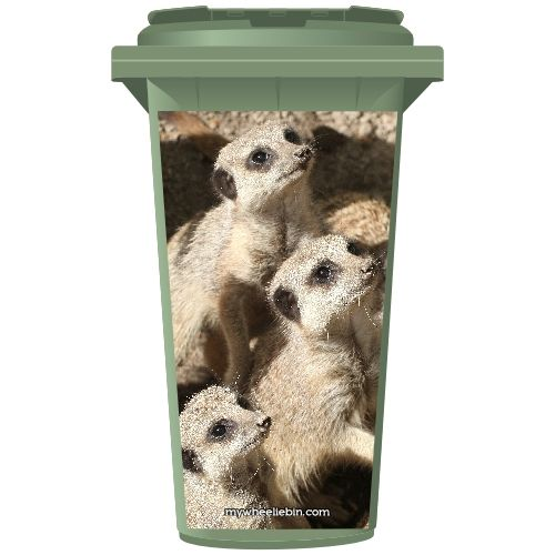 Meerkat Family Wheelie Bin Sticker Panel