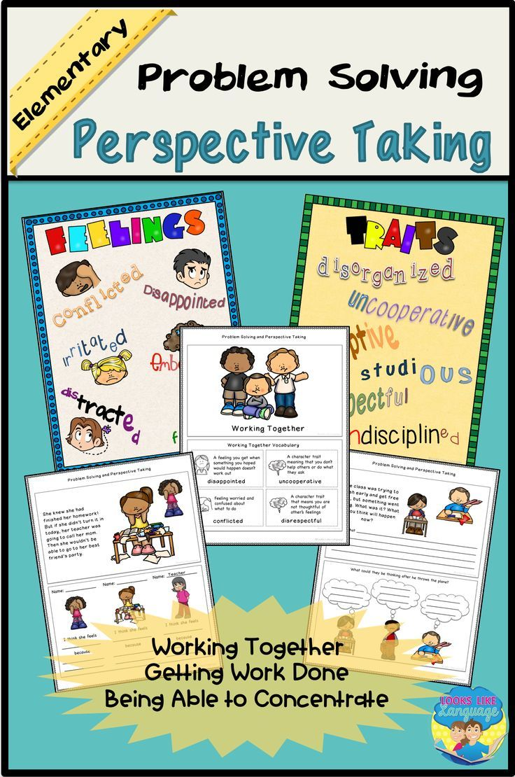 SLPs and SPED, your students will have fun building vocabulary for character traits and emotions while working on perspective taking for solving social problems!