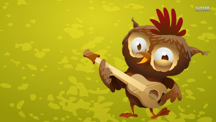 owl playing the guitar - photo #19