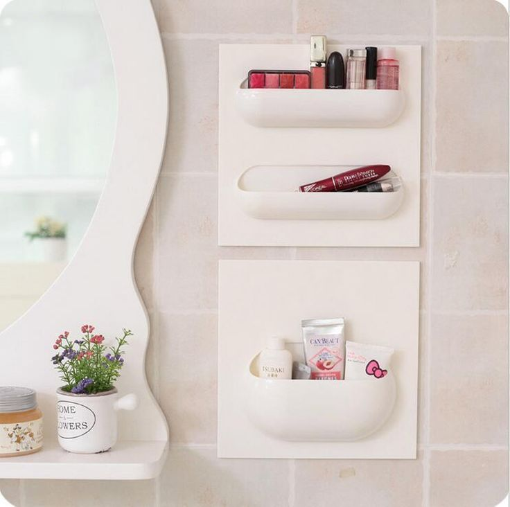 1 Pcs 22*22cm Bathroom Accessories, Wall Stick Type Bathroom Cup Tooth