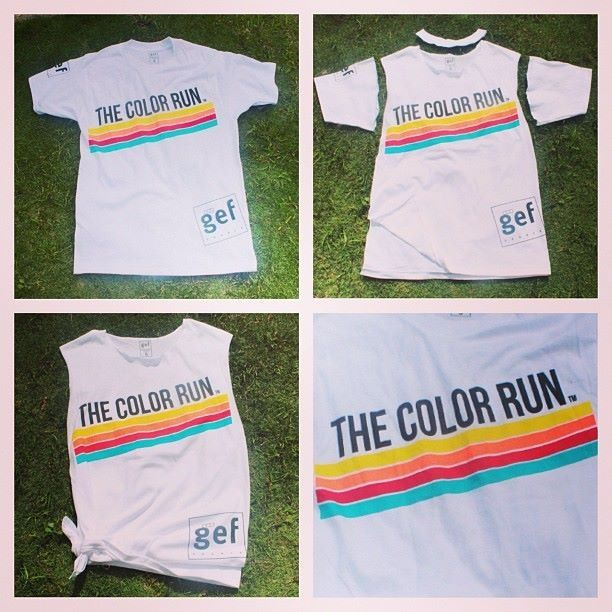 Color run ideas, would be fun to do before the color run!!!!