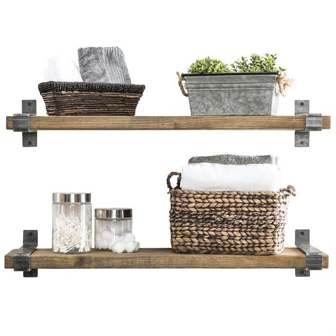 Deep Floating Shelves Set Of 2 Floating Shelves Rustic Floating Shelves Wood Floating Shelves