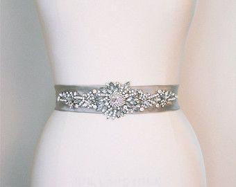 Cintura Fascia nuziale di cristallo in color argento platino, Fusciacche di Swarovski cinture, cintura di nozze, strass perline sash, cintura da sposa raso di seta