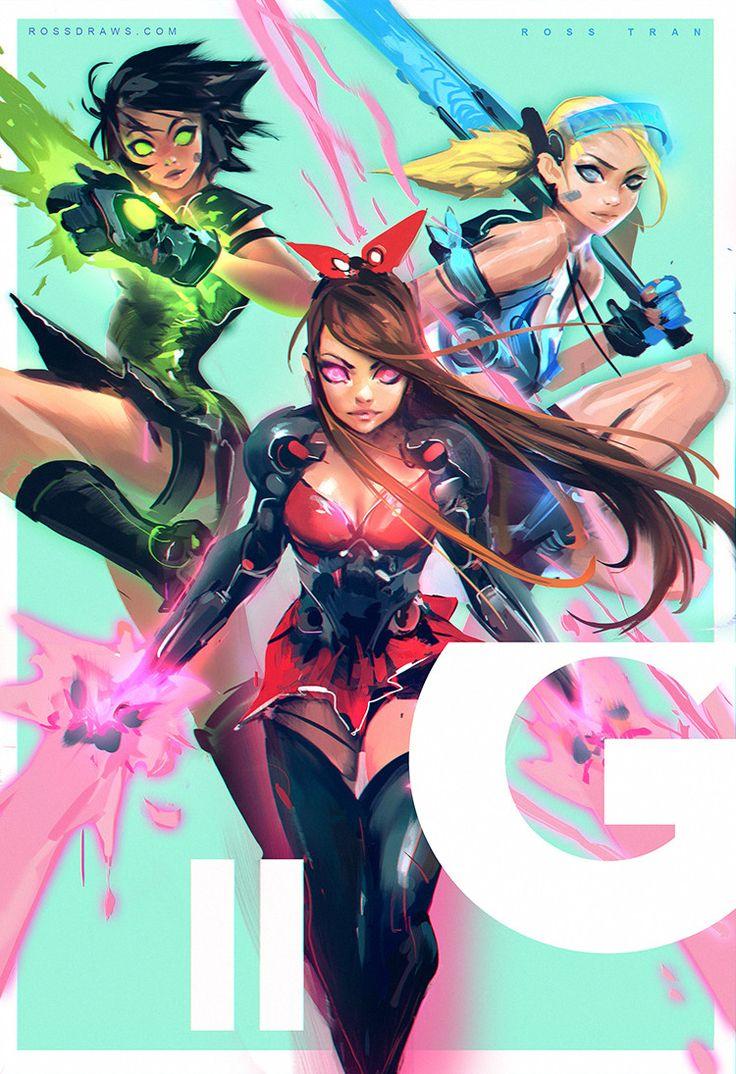 ArtStation - Power Puff Girls!, Ross Tran