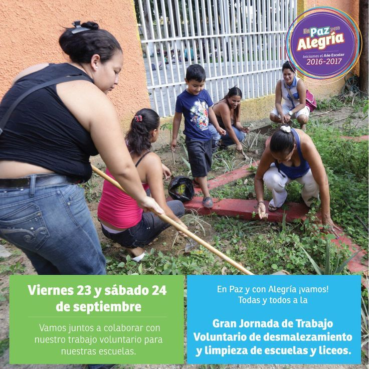 @FEdumedia : RT @SilvaEleazarL: Con la pedagogía del amor el ejemplo y la curiosidad vamos todos #EnCayapaEscolar a la Gran Jornada de desmalezamiento este 23 y 24 de SEP!