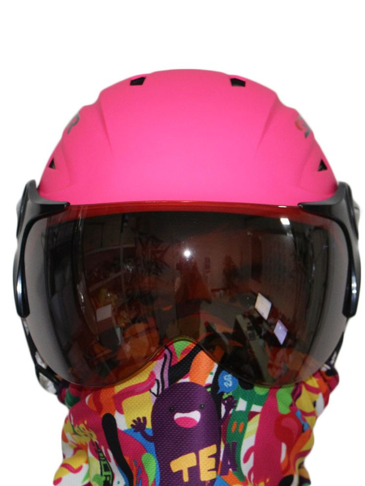 ski helmet +ski goggles ABS CE certificate adult ski open face helmet skate skiing helmets snowboard sport head protection