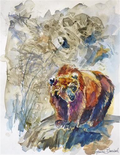 Daily paintworks cinnamon bear original fine art for for Original fine art for sale