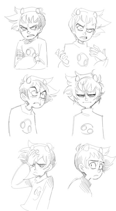 Karkat's range of emotions ✤ || CHARACTER DESIGN REFERENCES | Find more at https://www.facebook.com/CharacterDesignReferences if you're looking for: #line #art #character #design #model #sheet #illustration #expressions #best #concept #animation #drawing #archive #library #reference #anatomy #traditional #draw #development #artist #pose #settei #gestures #how #to #tutorial #conceptart #modelsheet #cartoon #kid #teen #teenager #male #boy || ✤