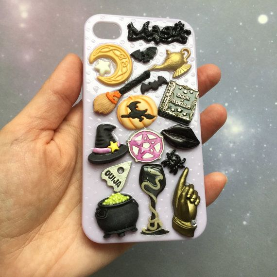 SALE iPhone 4 case Halloween Embellished Decoden by lotusfairy