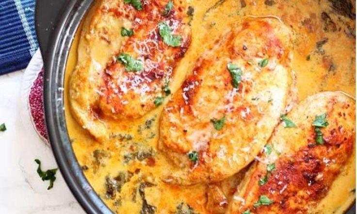 Du bon POULET qui cuit dans une sauce ONCTUEUSE... Quoi de mieux pour un souper en FAMILLE?