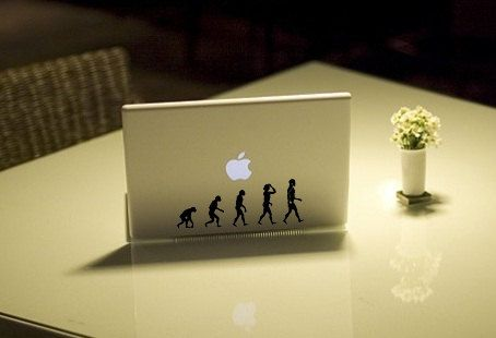 Evolution of man- Anime Decal for Macbook, Laptop, iPad, iPhone, Car, Windows…
