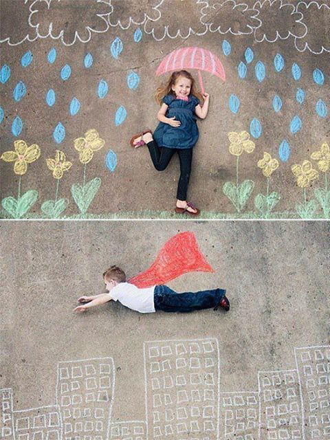 Photo: Coopet Photography Sidewalk Chalk So many cute fun things for kids!!