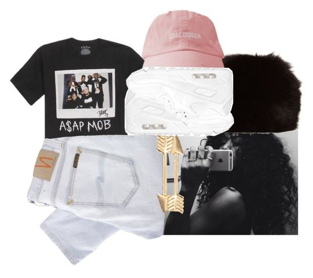 """"""""""" by eazybreezy305 ❤ liked on Polyvore featuring Diane Von Furstenberg, NIKE, Nudie Jeans Co., Wanderlust + Co, simpleoutfit and 2017"""