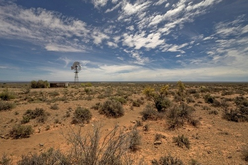 Windpomp in the Karoo, South Africa    The Karoo has beautiful scenery !! Come & explore this part of the world, come & stay @ Camdeboo Cottages www.camdeboocottages.co.za     #travel #karoo #Cameboo #GraaffReinet