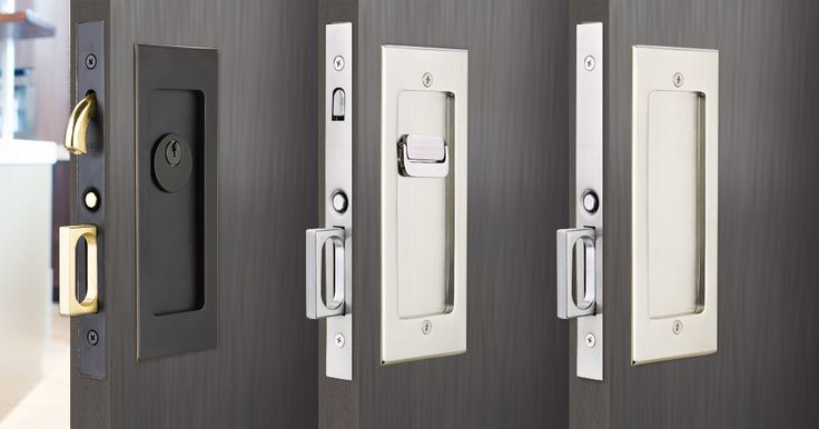 Modern Rectangular Pocket Door Mortise Lock | Emtek Products, Inc.