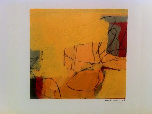 """jimmiejames:  """"homage"""",Jimmie James, 2008, 8"""" x 8.5"""" acrylic painting w/ pencil on watercolor paper"""