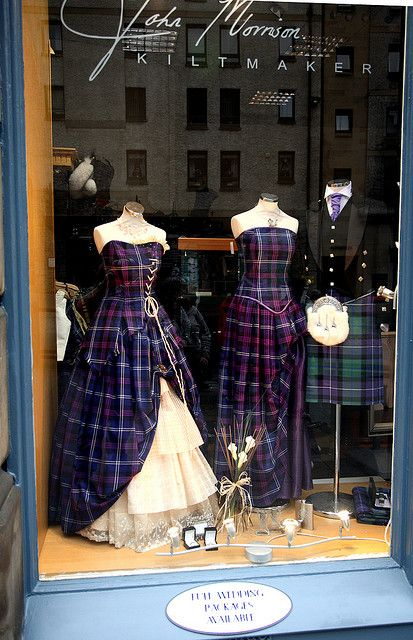 Display window in Edinburgh Scotland - John Morrison, Kiltmaker. Version…
