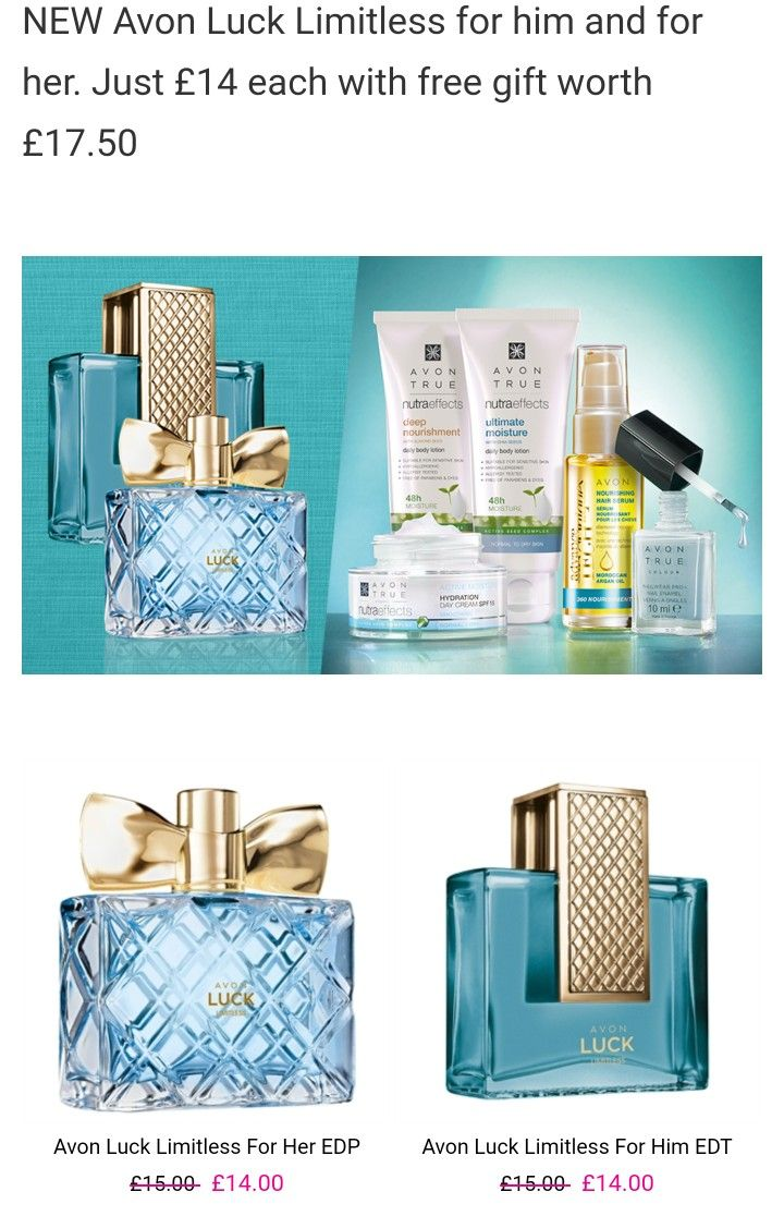 b9c7d0d50bf6f Avon Luck Limitless with FREE GIFT - 5 FREE PRODUCTS!! SHOP NOW : www.avon. uk.com/store/babsi123 BEST OFFERS OF BROCHURE 08! 💥💣…