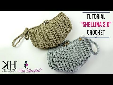 "TUTORIAL POCHETTE ""Shellina 2.0"" UNCINETTO - Pochette a conchiglia ● Katy Handmade - YouTube"