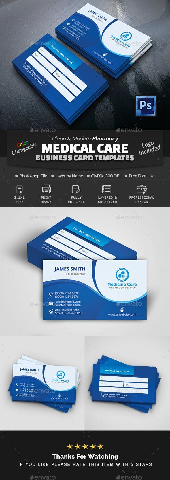 Medical Care Pharmacy Business Card Industry Specific Business Cards Medical Business Card Visiting Card Design Medical Business
