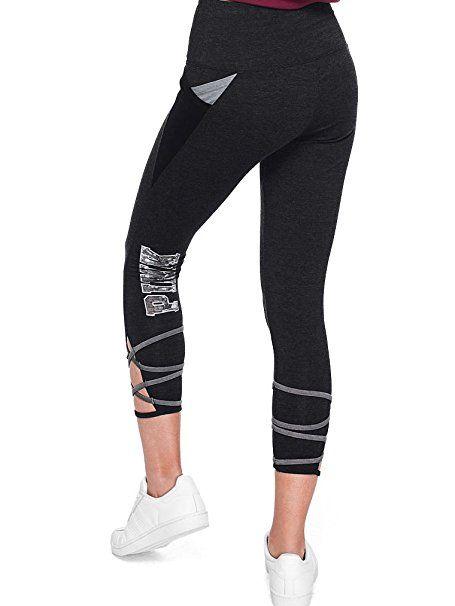85e159acaf Victoria's Secret Pink Cotton Strappy Pocket Legging Black Gray Small  #affiliate victoria secret clothes hoodie
