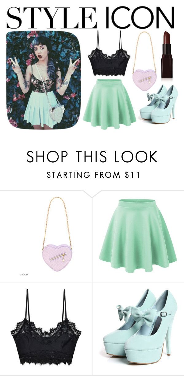 """""""Style Icon: Melanie Martinez"""" by halseycrybaby ❤ liked on Polyvore featuring For Love & Lemons and Laura Mercier"""