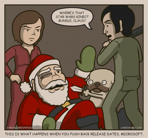 WWW.GABEDRAWS.COM | #art #illustration #santa #pug #nerd #geek #video #game