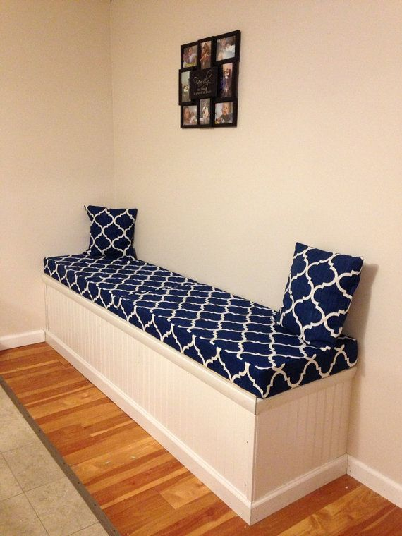 """Custom Bench Cushion """"Covers Only"""", Window Seat, Play room, Entry, Patio, Porch Swing, Garden Bench, Dinette,  Pool Side, Mudroom"""