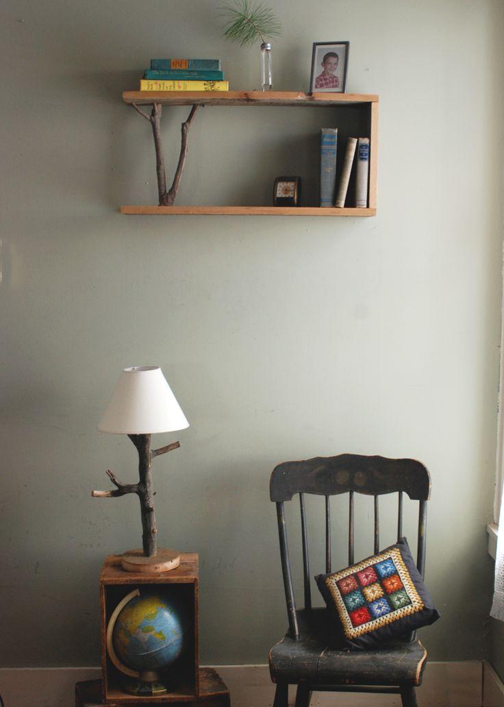 DIY Branch Table Lamp